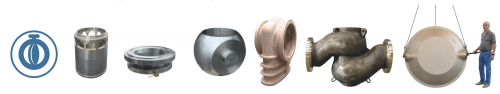 Sand castings and centrifugal castings for valves